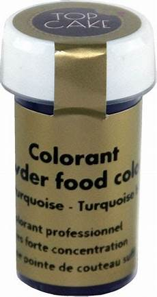 colorant alimentaire poudre bleu turquoise top cake