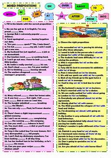 exercises prepositions mixed mixed prepositions worksheet free esl printable worksheets made by teachers