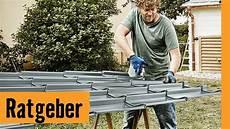 Gartenhausdach Decken Mit Blech Hornbach Meisterschmiede