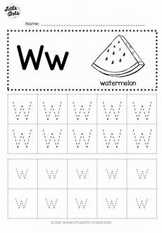 free letter w tracing worksheets
