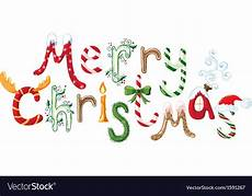merry christmas text royalty free vector image