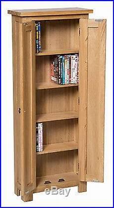 oak dvd cd storage cabinet solid wood cupboard rack tower