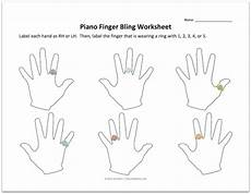 freebie piano finger bling worksheets color in my piano