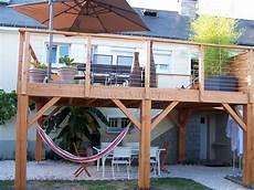 construire une terrasse bois sur pilotis maison