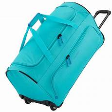 travelite basics fresh reisetasche mit rollen t 252 rkis