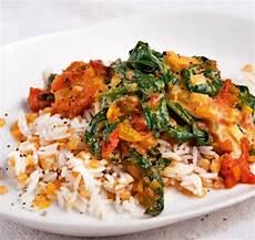 gerichte mit tomaten spinat tomaten curry mit linsen reis essen in 2019