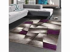 tapis salon moderne de cr 233 ateur parlak 3d violet gris