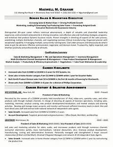resume sle marketing executive resume sle 5 senior sales marketing executive