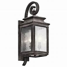 kichler lighting wiscombe park weathered zinc outdoor wall light 49502wzc destination lighting