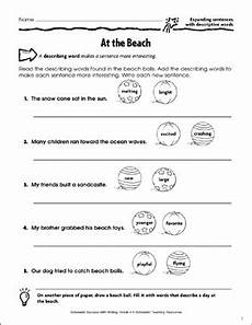 at the expanding sentences with descriptive words printable skills sheets