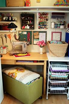 cozy craft space sewing room design small craft rooms