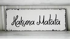 shabby vintage holz schild hakuna matata homestyle