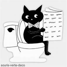 Black Cat Restroom Sign Toilet Sign Bathroom Sign Etsy