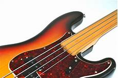 fender fretless precision bass fender precision bass fretless 1971 sunburst bass for sale bass n guitar