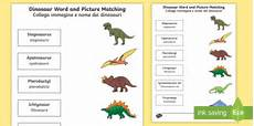 dinosaur characteristics worksheets 15288 dinosaur word and picture matching worksheet worksheet italian