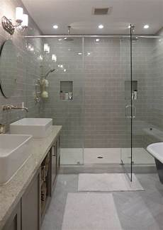 contemporary master bathroom with shower daltile