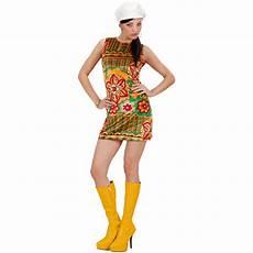 70er Jahre Retro Kleid F 252 R Frauen