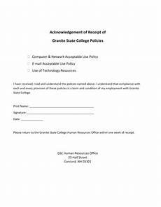 fillable online acknowledgement of receipt of granite state college policies fax email print