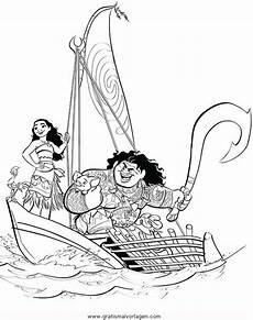 Gratis Malvorlagen Vaiana Vaiana 03 Gratis Malvorlage In Comic Trickfilmfiguren