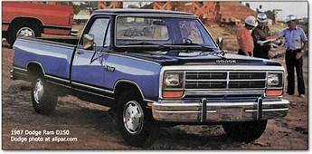 1985 Dodge Ram  History Of The Pickups And A Series