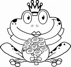 pictures of frogs with crown to color and print coloring