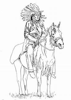 Ausmalbild Indianer Pferd Indianer Ausmalbilder F 252 R Erwachsene Kostenlos Zum