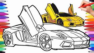 How To Draw A Car  Cars Coloring Pages Drawing Sport