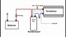 how to kondensator anschlie 223 en einbauen car hifi