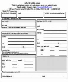 sle employee record form 8 exles in word pdf