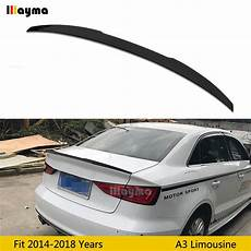 v style abs rear trunk spoiler for audi a3 sline s3