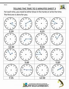 printable worksheets about telling time 3718 telling time clock worksheets to 5 minutes