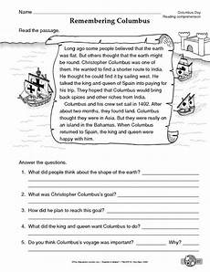 columbus day worksheet reading comprehension reading informational text download to save to