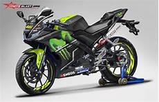 R15 Modifikasi Motogp by Modifikasi Striping All New Yamaha R15 Black Movistar