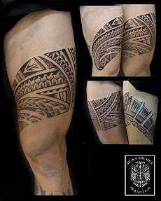 tatouage polynesien polynesian leg