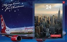air berlin adventskalender air berlin usa hin r 220 ck nur 399 bis 02 01 2014