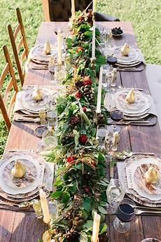 chemin de table de noel 20 thanksgiving table decorations ideas