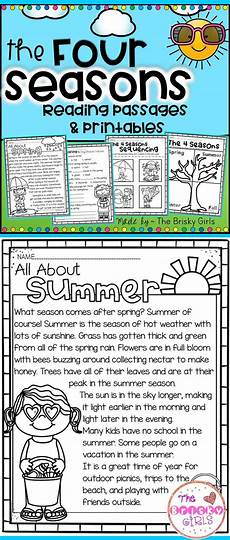 seasons worksheets for grade 4 14737 the four seasons reading passages take home packet