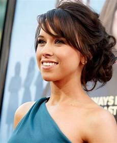 cute updo hairstyles with side swept bangs hair elegant wedding hair hairstyles with bangs