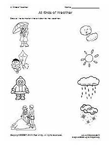 winter weather worksheets kindergarten 14603 all kinds of weather matching worksheet weather worksheets preschool weather printable