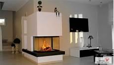 kamin modern naturstein heizkamin 3 seiter mit naturstein ofen kamin fireplace