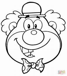 Malvorlage Clown Zum Ausdrucken Ausmalbild Lustiger Clown Kopf Ausmalbilder Kostenlos