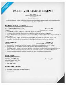 caregiver resume sle resumecompanion com resume sles across all industries nursing
