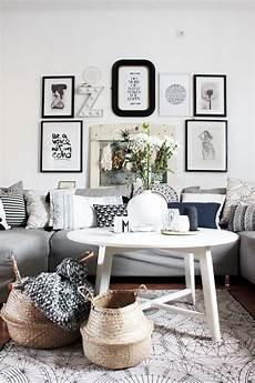 wohnzimmer im boho style mit dekok 246 rben aus seegras