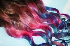 Ombre Dip Dyed Hair Clip In Hair Extensions Tie By