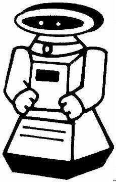 spielzeug roboter schematisch ausmalbild malvorlage kinder