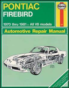 car repair manual download 1969 pontiac firebird parking system 1970 1981 all makes all models parts l555 1970 81