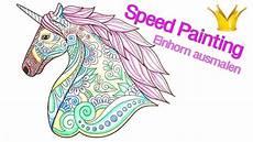 speed painting einhorn mandala ausmalen