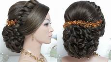 bridal hairstyle for long hair tutorial wedding updo step by step youtube