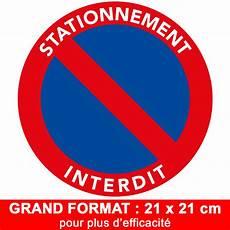 autocollant interdiction de stationner autocollants de stationnement interdit grand format