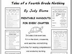 tales of a fourth grade nothing worksheets tales of a fourth grade nothing by judy blume printable handouts for each chapter teaching
